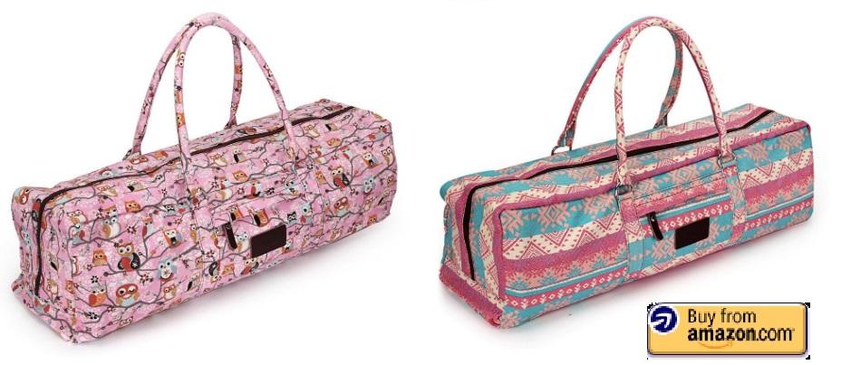 colorful yoga mat bags