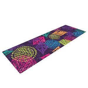 emine ortega psychedelic yoga mat