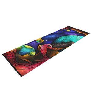 kess inhouse psychedlic yoga mat