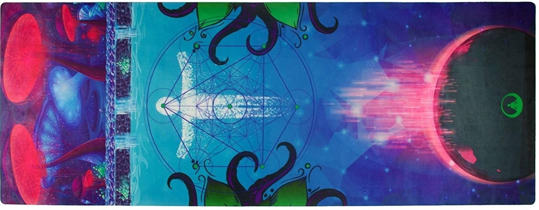 psychedelic yoga mat