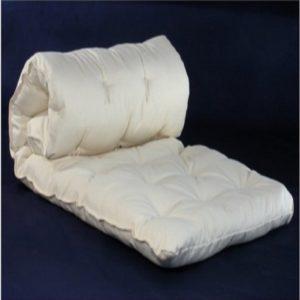 folding organic cotton yoga mat