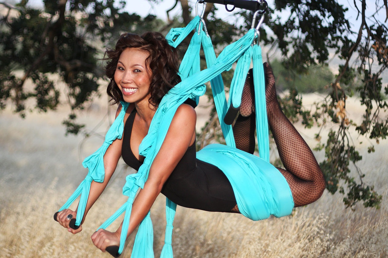 An introduction to aerial yoga for beginners