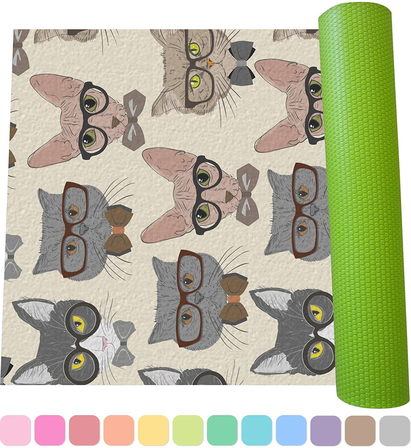 Best cat print yoga mats