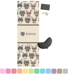 hipster cats yoga mat